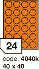 Rayfilm R0133 fluo oranžové etikety kulaté průměr 40mm 100listů