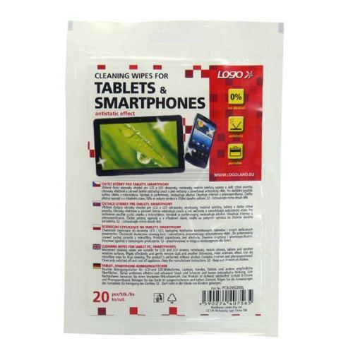 Čistící ubrousky pro tablet a smartphone 20ks LOGO