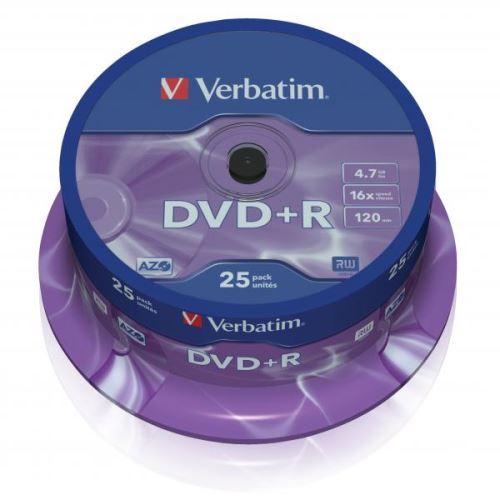 Verbatim DVD+R 4.7GB16x 25-Pack Spindle