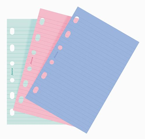 Filofax papír linkovaný barevný A7