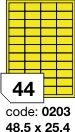 Rayfilm R0121 žluté etikety 48,5x25,4mm 100listů