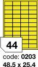 Rayfilm R0131 fluo žluté etikety 48,5x25,4mm 100listů