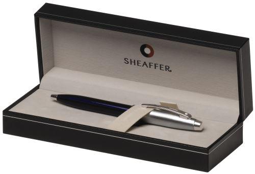 Sheaffer 9308-2 Brushed Chrome Blue CT Gift Collection 100 blue kuličkové pero modré