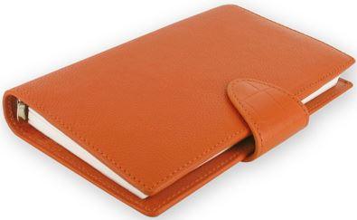 Diář Filofax Calipso formát Compact oranžový