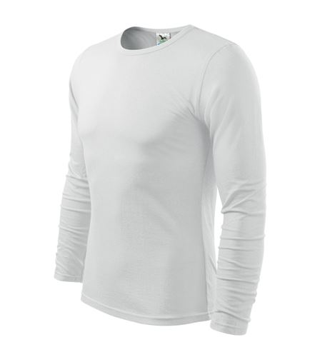 Triko pánské FIT-T Long Sleeve dlouhý rukáv bílé