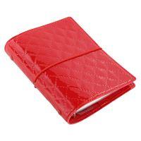 Filofax Domino Luxe A7 Pocket červený diář kapesní lesklý