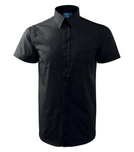 Košile pánská Shirt short sleeve krátký rukáv černá 3XL  18bf71a626