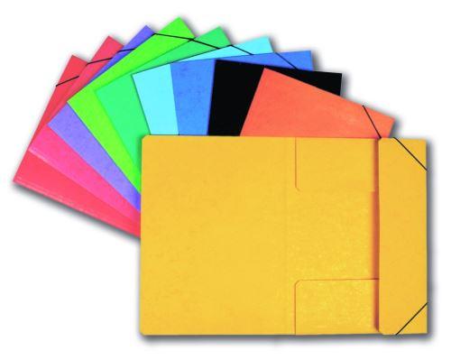 Papírové desky Prešpán 3 klopy s gumou červené