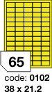 Rayfilm R0131 fluo žluté etikety 38x21,2mm 100listů