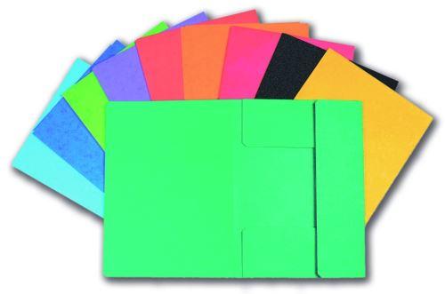 Papírové desky Prešpán 253 se 3 klopami tmavě zelená