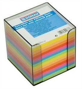 Donau poznámková kostka nelepená barevná v boxu 83x83x75