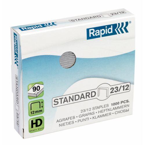 Drátky do sešívačky Rapid Standard 23/12 1000ks