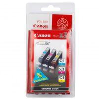 Canon CLI-521CMY MultiPack originální inkoustová náplně set 3ks