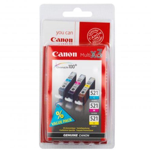 Canon CLI-521CMY Multipack originální inkoust barevný