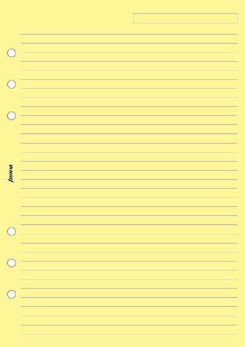 Filofax náplň do diáře formát A5 papír linkovaný žlutý
