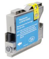 Brother LC970 LC1000 Cyan kompatibilní inkoustová náplň modrá LC-970 LC-1000