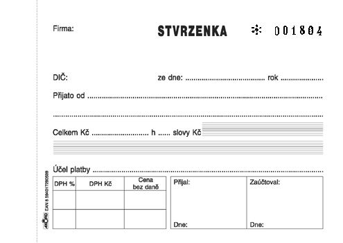 Tiskopis Stvrzenka A6 samopropisovací