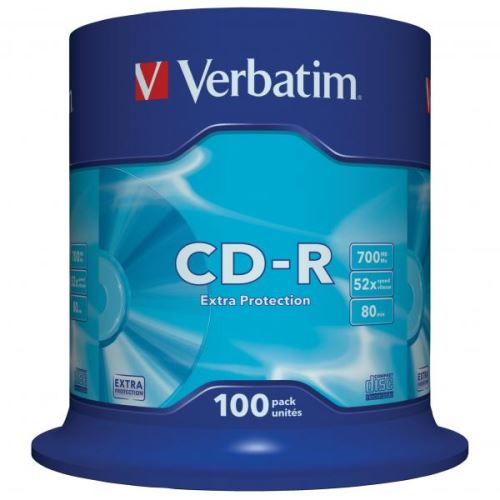 Verbatim CD-R spindl, 700MB, 52x, 100-pack