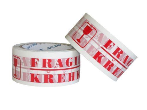 Lepící páska 48mm x 66mm s potiskem KŘEHKÉ FRAGILE