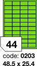 Rayfilm R0120 zelené etikety 48,5x25,4mm 100listů