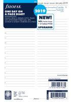 Filofax kalendář A5 2019 den na jednu stranu 5 jazyků