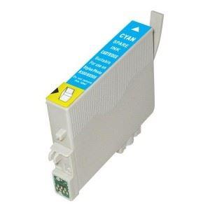 Epson T0802 Cyan kompatibilní náplň modrá