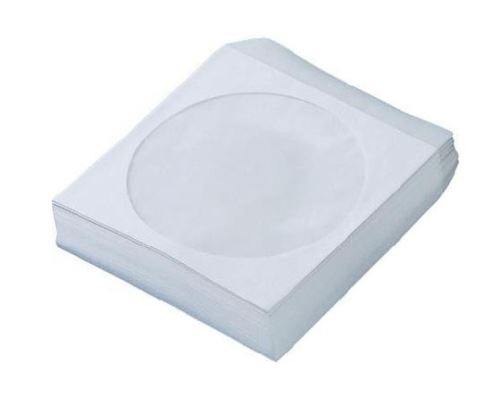 Obálka na CD papírová okénko s klopou 100ks