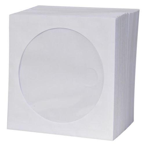Obálka na CD/DVD LOGO papírová s okénkem 100ks