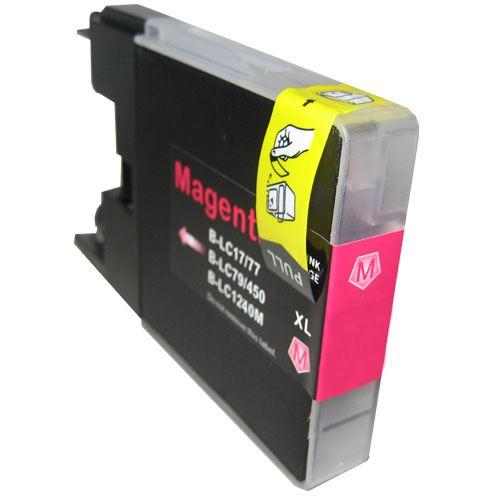 Brother LC-1240 LC-1280 Magenta kompatibilní náplň červená