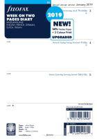 Filofax kalendář A5 2019 týden na dvě strany 5 jazyků NENÍ ČESKY