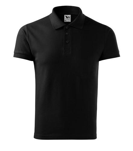 Pánská polokošile Cotton krátký rukáv s límečkem černá XL  354e45aca1