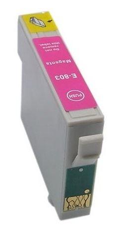 Epson T0803 Magenta kompatibilní náplň červená