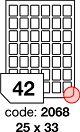 Rayfilm R0100.2068A samolepící etikety 25x33mm bílé 100 listů