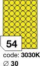 Rayfilm R0131 fluo žluté etikety kulaté průměr 30mm 100listů
