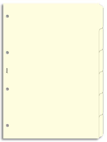 Filofax náplň do diáře formát A4 krajové výřezy krémové