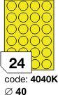 Rayfilm R0131 fluo žluté etikety kulaté průměr 40mm 100listů